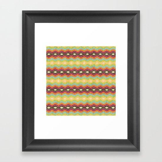 Chevron norvehC Framed Art Print