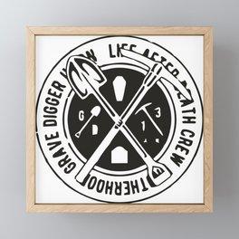 Grave Digger Framed Mini Art Print