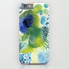 Pebbled Pond in Aqua Hues iPhone Case