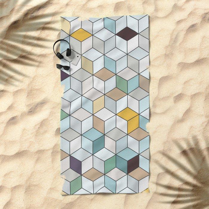 Cubed II Beach Towel