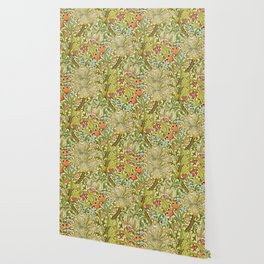 William Morris Golden Lily Vintage Pre-Raphaelite Floral Wallpaper