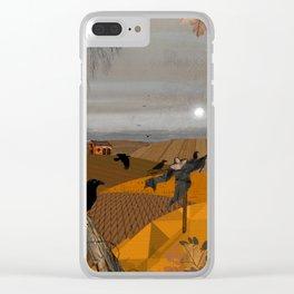 Autumn Fields Clear iPhone Case