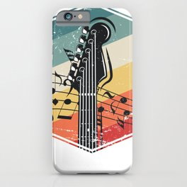 Bass Guitar Retro iPhone Case