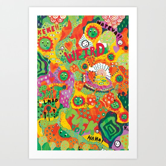 Rainbow Wars Art Print