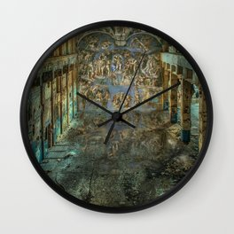 Apocalyptic Vision of the Sistine Chapel Rome 2020 Wall Clock