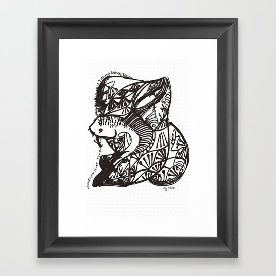 Shallow River Young Leaves Framed Art Print