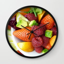 Fruits and Vegetables - Cafe or Kitchen Decor Wall Clock