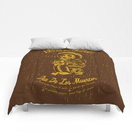 Denton Dia De Los Muertos woodcut Comforters