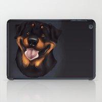 rottweiler iPad Cases featuring Rottweiler 2 by Mickeyila Studios