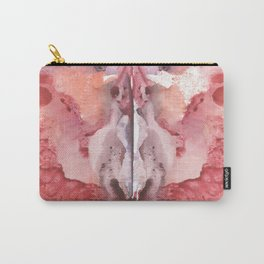 pink Rorschach test, watercolor, monotype, abstract colorful symmetric painting Carry-All Pouch