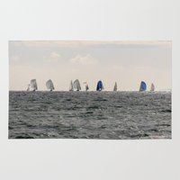 sailing Area & Throw Rugs featuring sailing by habish