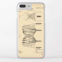1902 Patent Corset Clear iPhone Case