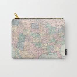United States Map Carry-All Pouch