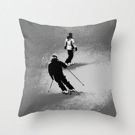 Skiing and Snowboarding Winter Fun Throw Pillow