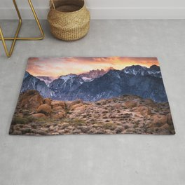 Mount Whitney and Alabama Hills Sunset Rug