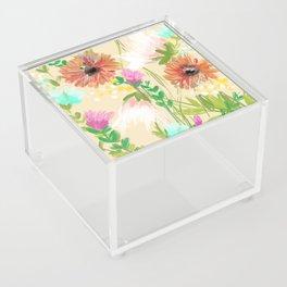Peach Floral Acrylic Box