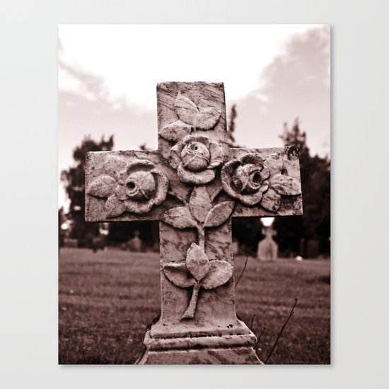 Cross of roses Canvas Print
