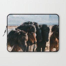 Horses in Iceland - Wildlife animals Laptop Sleeve