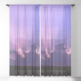Serenity Prayer - III Sheer Curtain