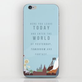 "Minimalist Magic-""Leave Today"" DAY iPhone Skin"