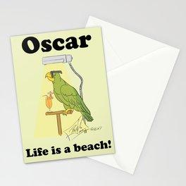 Oscar, life is a beach! Stationery Cards
