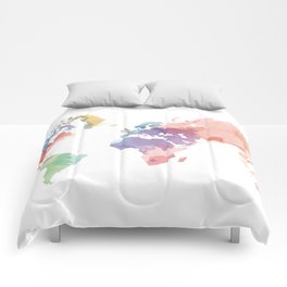 colorful world map Comforters