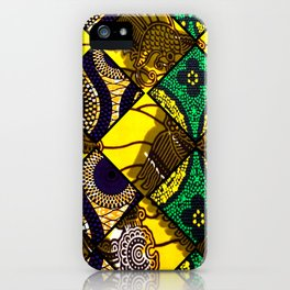 Groovy Mardi Gras African Print iPhone Case