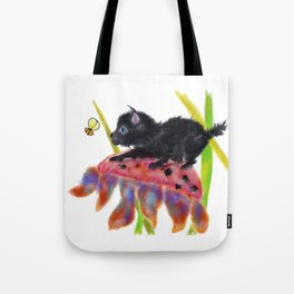 Spookie in the Flower #2 Tote Bag