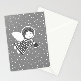Angels on the gray Stationery Cards