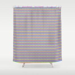 Rainbow Stripe Pattern Shower Curtain