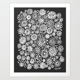 of flowers and planets Art Print