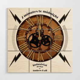 2 Minutes to Midnight Wood Wall Art