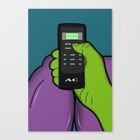 hulk Canvas Prints featuring hulk by mark ashkenazi