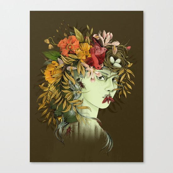Persephone, goddess of Spring Canvas Print
