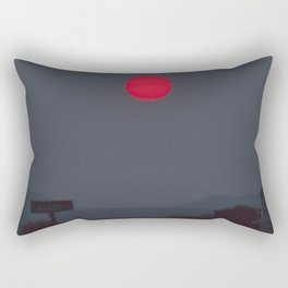 Ominous Red Sunset Rectangular Pillow