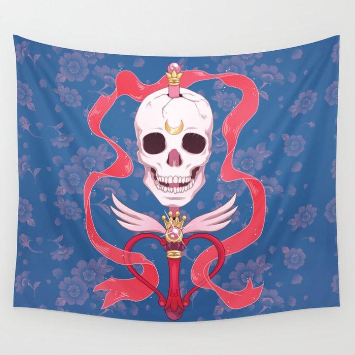 Moon Skull Wall Tapestry