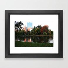 Boston Gardens Framed Art Print