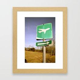 Let's Runaway Framed Art Print
