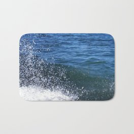 Seafoam and splashes Bath Mat