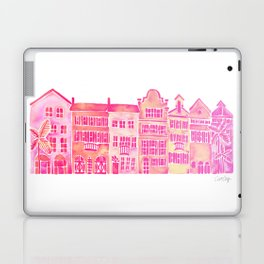 Tropical Homes – Pink Ombré Laptop & iPad Skin