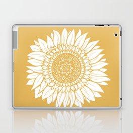 Yellow Sunflower Drawing Laptop & iPad Skin