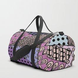 Simple Purple Doodles . Picture Duffle Bag