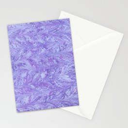 Purple Sea, Combed Marbling Pattern Stationery Cards