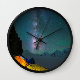 Camp of Milkway Wall Clock