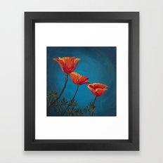 California Dreamin' - Orange Poppies  Framed Art Print