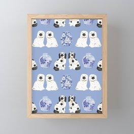 Staffordshire Dogs + Ginger Jars No. 1 Framed Mini Art Print