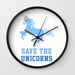 Save The Unicorns Wall Clock