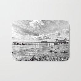 Penarth Pier Morning Light 2 Monochrome Bath Mat