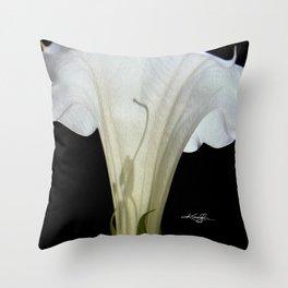 Moon Flower by kathy Morton Stanion Throw Pillow