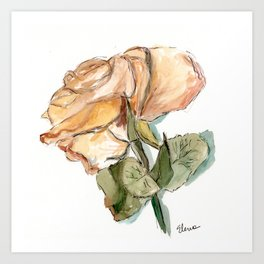 Dried Rose Art Print